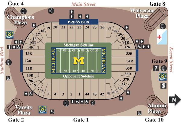Michigan Stadium Seating Chart (Rows) | mgoblog